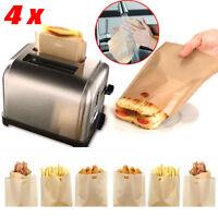 4x Wiederverwendbar Tasche Toast Brot Backen Beutel Toastschnitte Sandwich