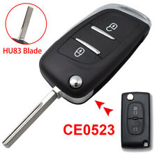 Car Remote Key Shell Fob For Peugeot 308 3008 508 HU83 CE0523 Modification