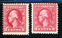 USAstamps Unused FVF US Washington Offset Printing Perf 11 Scott 526, 527 OG MNH