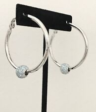New fashion hoop earrings removable beads made with Swarovski blue crystals