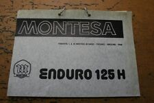 Montesa Enduro 125 H Spare Parts Book