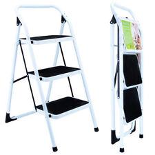3 Step Portable Folding Ladder Non Slip Safety Tread Stepladder Commercial Home