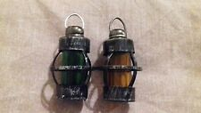 Set Of Salt And Pepper Shakers In An Old Handheld Lantern Design