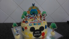 Personalised Mickey Mouse Playhouse Scene Wafer Edible Cake Decoration Set