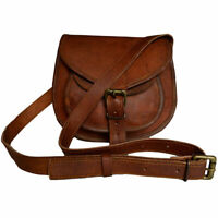 New Women Vintage Brown Leather Satchel Messenger Cross Body Bag Handmade Purse