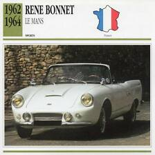1962-1964 RENE BONNET Le Mans Sports Classic Car Photo/Info Maxi Card
