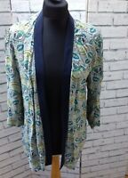 Blogger River Island Blue Pattern Open Front Kimono Cover Up UK 8
