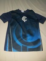 Carlton Football Club Kids Shirt Sz 8 - Preowned