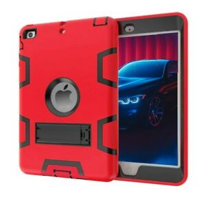 Shockproof Rubber Armor Case Hard Stand Cover For Apple iPad 234 Air Mini 9.7