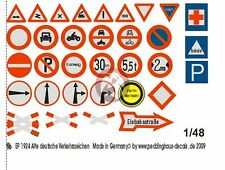 Peddinghaus 1/48 German Early Traffic Signs (33 signs) [Water slide Decal] 1924