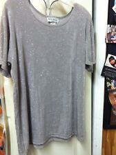 HOT SPICE USA  TOP WITH SILVER DOTS ON SILVER