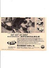 1960 TRIUMPH TR-3 / TR3 ~ ORIGINAL SMALLER MASTERCRAFT TRAILER AD