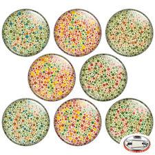 "Color Vision Test 1.25"" Pinback Button BADGE SET Novelty Pins Mini Gift 32 mm"