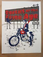 Queens of the Stone Age Christchurch 2018 Silkscreen  Poster Art Chris Thornley
