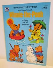 WALT DISNEY WINNIE THE POOH BEAR FOR ALL SEASONS COLORING ACTIVITY BOOK GOLDEN