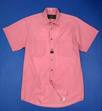 International polo line camicia shirts uomo usato M manica corta rosa wear T5792