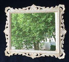 Miroir mural ancien Blanc Ornement BAROQUE 43x37 friseurspiegel De Couloir