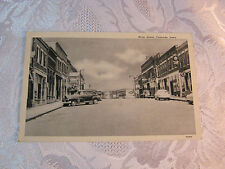 Vintage Postcard Main Street Cascade Iowa Downtown Hamms Beer Bar Drug store