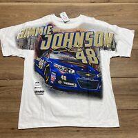 NASCAR's #48 Jimmie Johnson Superman All Over Print T-Shirt Men's Size XL