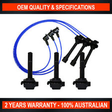 Set of 3 Swan Ignition Coil w/ NGK Lead Kit for Toyota Avalon Camry 3.0L 1MZ-FE