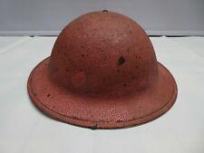 A WW2 1940 Dated British Helmet In Pink Desert? Camo