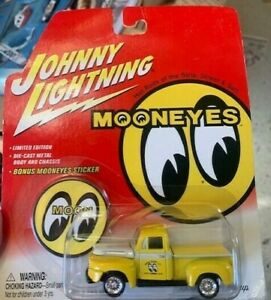 A14 Johnny Lightning  Ford F-1 Pickup moon eyes but card has soft corner