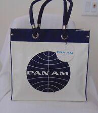Vintage Pan Am Carryon Overnight Bag White Travelite Nylon NWT