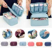 Portable Lady Zipper Storage Bag Travel Underwear Bra Sock Lingerie Organizer