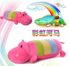 plush toy stuffed doll rainbow hippo hippopotamus sleeping pillow cushion 1pc