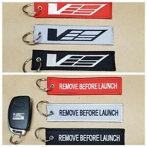 Cadillac CTS-V ATS-V V Sport Keychain Remote Fob REMOVE BEFORE LAUNCH 2 Sided