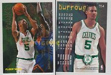NBA FLEER 1995-1996 SERIES 2 - Junior Burrough, Celtics # 354 - Mint