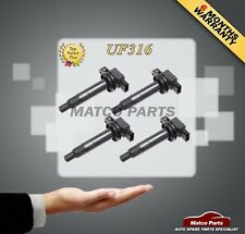 Set Of 4 Ignition Coil for 1.5L Echo Prius Yaris Scion xA xB 9091902240 UF316