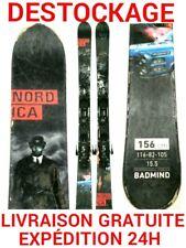 """ski enfant occasion NORDICA """"BAD MIND"""" tailles:156cm et 163cm Double spatule"""