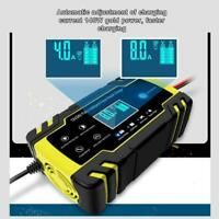 Intelligent 12V 24V 8A LCD Automobile Battery Charger Automatic Car Motorcycle