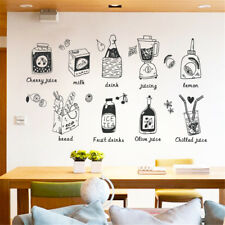 Kitchen Food Appliance Room Home Decor Removable Wall Stickers Decals Decoration