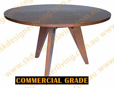 SKDL Replica Walnut Jean Prouve Gueridon Dining Table Round - 120D