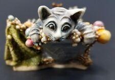 Harmony Kingdom Tuaruffe & Teaser's Tub Trinket Box Cat Figurine Clair De Lune