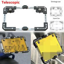 Motorcycle E-bike Adjustable Telescopic Rear License Plate Frame Holder + Screw