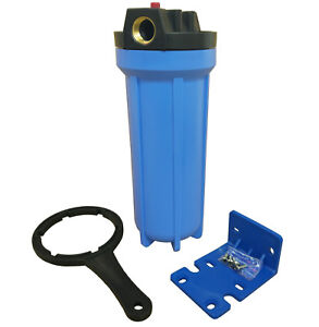 """10"""" In Line Water Filter Housing with Pressure Relief Valve and 3/4"""" Brass Ports"""