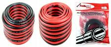 50' AUDIOPIPE 10 GA GAUGE RED BLACK ZIP WIRE SPEAKER CABLE COPPER CLAD CAR...