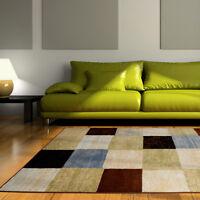 "Modern Geometric Squares 2x3 Area Rug Contemporary Carpet - Actual 1'8"" x 2'9"""