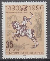 DDR East Germany 1990 ** Mi.3299 Post Europa | Mail Europe | Postreiter Rider
