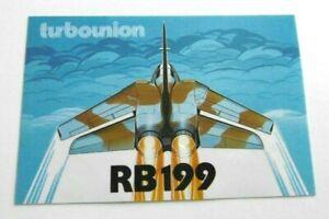 Werbe-Aufkleber turbo-union RB199 Turbofan-Strahltriebwerk Tornado Kampfflugzeug
