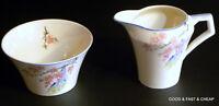 BARKER BROS TudorWare china BLOSSOM TIME pattern ~ Creamer & Open Sugar Bowl Set