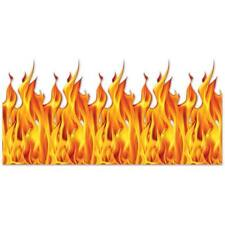 Wall of Flames Backdrop 4' x 30' Wall Scene Firefighter Party Decorations