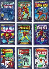 2010 IRON MAN MOVIE 2 CLASSIC COMIC COVERS CHASE CARD SET
