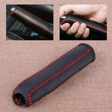 Black Red Car Leather Stitching Hand Brake Cover Fit For Honda Civic 2004-2011