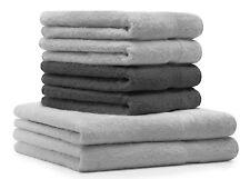 Betz 6er Handtuch Set PREMIUM 2 Duschtücher 4 Handtücher 100% BW grau