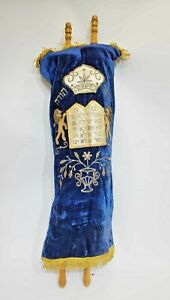 Torah vintage Ascenazi Torah scroll from German Jewish Judaica Torah tall 68 cm