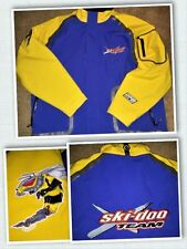 XL Ski Doo X-Team Snowmobile Snow Ski Race Jacket Coat RPM BRP Yellow Blue Hood